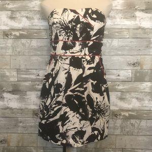 Charlotte Russe Strapless Monochrome Dress